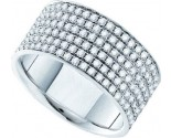 Ladies Diamond Anniversary Band 14K White Gold 2.00 ct. GD-39198