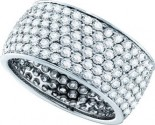 Ladies Diamond Anniversary Band 14K White Gold 3.89 cts. GD-39200