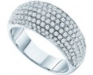 Ladies Diamond Anniversary Band 14K White Gold 1.00 cts. GD-39245