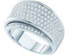 Ladies Diamond Anniversary Band 14K White Gold 1.27 cts. GD-39247