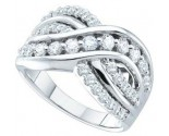 Ladies Diamond Anniversary Band 14K White Gold 1.00 ct. GD-39376
