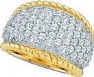 Ladies Diamond Anniversary Band 14K Yellow Gold 2.00 ct. GD-39693