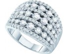 Ladies Diamond Anniversary Band 14K White Gold 2.00 ct. GD-45646