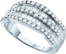 Ladies Diamond Anniversary Band 14K White Gold 1.00 ct. GD-46766