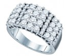 Ladies Diamond Anniversary Band 14K White Gold 2.00 ct. GD-47008