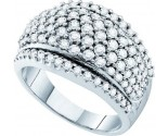Ladies Diamond Anniversary Band 14K White Gold 1.50 cts. GD-47427