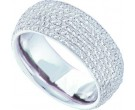 Ladies Diamond Anniversary Band 14K White Gold 1.78 cts. GD-47677