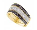 Black Diamond Fashion Band 10K Yellow Gold 0.75 cts. GD-51847