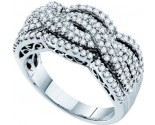 Ladies Diamond Anniversary Band 14K White Gold 0.74 cts. GD-53086
