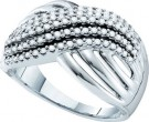 Ladies Diamond Anniversary Band 14K White Gold 0.51 cts. GD-53139