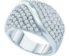 Ladies Diamond Anniversary Band 14K White Gold 2.00 ct. GD-53159