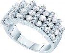 Ladies Diamond Anniversary Band 14K White Gold 1.99 cts. GD-53253