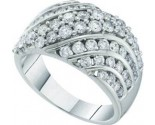 Ladies Diamond Fashion Band 14K White Gold 2.00 ct. GD-53268