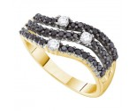 Black Diamond Fashion Ring 14K Yellow Gold 0.54 cts. GD-53690