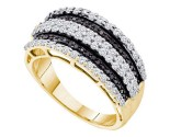 Black Diamond Fashion Band 10K Yellow Gold 0.82 cts. GD-54914