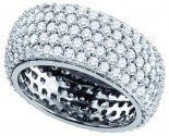 Ladies Diamond Anniversary Band 14K White Gold 3.29 cts. GD-65566