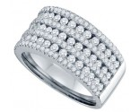 Ladies Diamond Anniversary Band 14K White Gold 1.50 cts. GD-69290