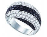 Ladies Diamond Anniversary Band 10K White Gold 2.05 cts. GD-70958