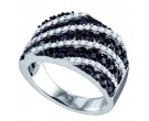 Ladies Diamond Anniversary Band 10K White Gold 1.23 cts. GD-70966