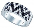 Black Diamond Anniversary Band 10K White Gold 1.04 cts. GD-71297