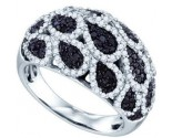 Black Diamond Fashion Band 10K White Gold 1.11 cts. GD-71420