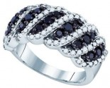 Black Diamond Fashion Band 10K White Gold 1.46 cts. GD-71562