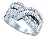 Ladies Diamond Anniversary Band 10K White Gold 1.00 ct. GD-71938