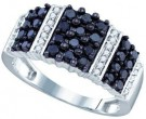 Black Diamond Fashion Band 10K White Gold 0.97 cts. GD-72190