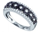Black Diamond Fashion Band 10K White Gold 0.70 cts. GD-72231