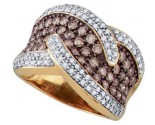 Ladies Diamond Anniversary Band 10K Rose Gold 2.10 cts. GD-72602