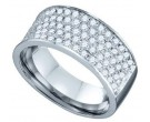 Ladies Diamond Anniversary Band 10K White Gold 1.03 cts. GD-74301