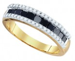 Black Diamond Fashion Band 10K Yellow Gold 1.02 cts. GD-74931