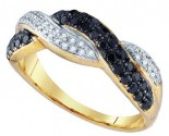 Black Diamond Fashion Band 10K Yellow Gold 0.41 cts. GD-75259