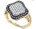 Black Diamond Fashion Band 10K Yellow Gold 1.00 ct. GD-75542