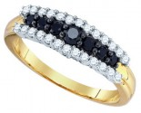Black Diamond Fashion Band 10K Yellow Gold 0.56 cts. GD-76132