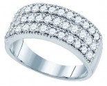 Ladies Diamond Anniversary Band 10K White Gold 0.94 cts. GD-77559