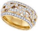 Ladies Diamond Anniversary Band 14K Yellow Gold 0.78cts. GD-84220
