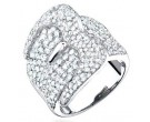 Ladies Diamond Band 14K White Gold 3.10 cts. S22-2