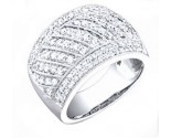 Ladies Diamond Anniversary Band 14K White Gold 1.20 cts. S27-11