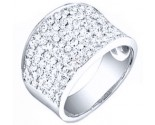 Ladies Diamond Anniversary Band 14K White Gold 1.85 cts. S27-7