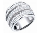 Ladies Diamond Anniversary Band 14K White Gold 3.30 cts. S40-9