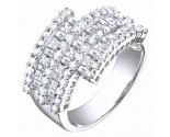 Ladies Diamond Anniversary Band 14K White Gold 2.35 cts. S54-2