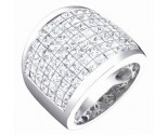 Ladies Diamond Anniversary Band 14K White Gold 6.30 cts. S54-3