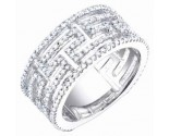 Ladies Diamond Anniversary Band 14K White Gold 1.10 cts. S54-7