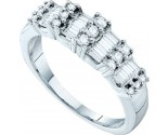 Ladies Diamond Band 14K White Gold 0.50 cts. GD-10196