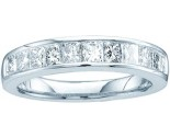 Ladies Diamond Band 14K White Gold GD-11076