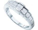 Ladies Diamond Band 14K White Gold 0.50 cts. GD-18693