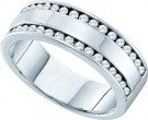 Men's Diamond Band 14K White Gold 0.50 cts. GD-25935