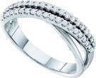 Ladies Diamond Band 14K White Gold 0.38 cts. GD-26155