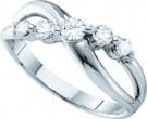 Ladies Diamond Band 14K White Gold 0.50 cts. GD-26220